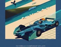 Formula E电动方程式赛事海报设计