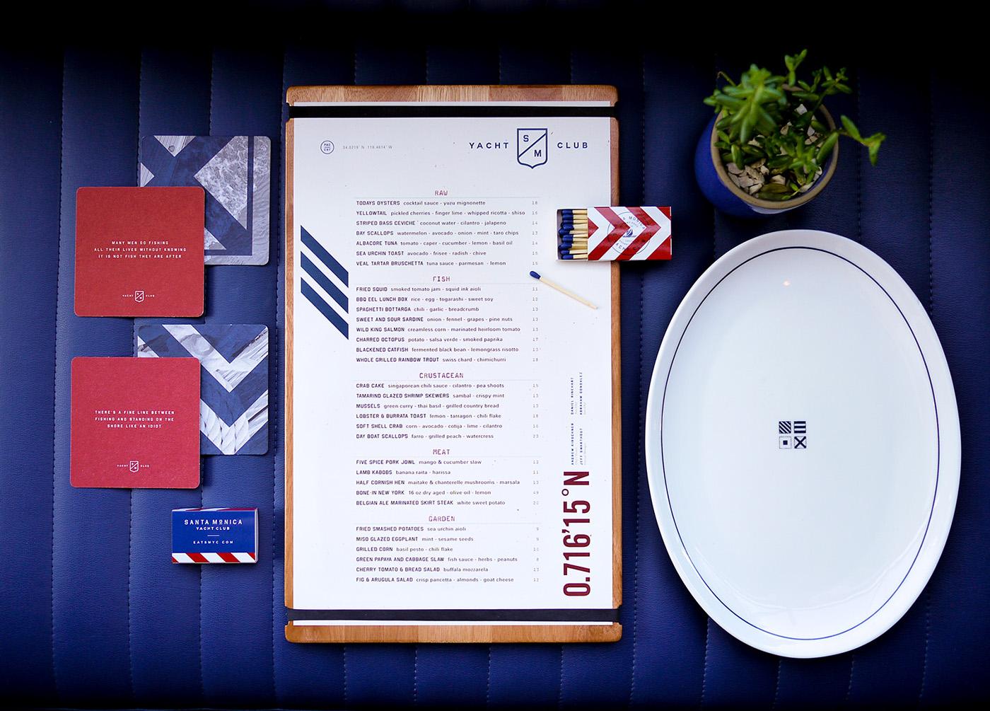 品牌VI设计欣赏:Santa Monica游艇俱乐部