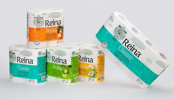 reina卫生卷纸包装设计