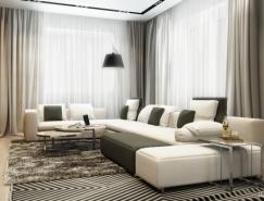 莫斯科质感纹理时尚住宅空间澳门金沙网址