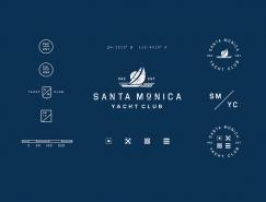 品牌VI設計欣賞:Santa Monica遊艇俱樂部