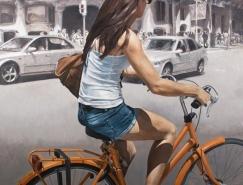 Marc Figueras超写实街头人物绘画作品