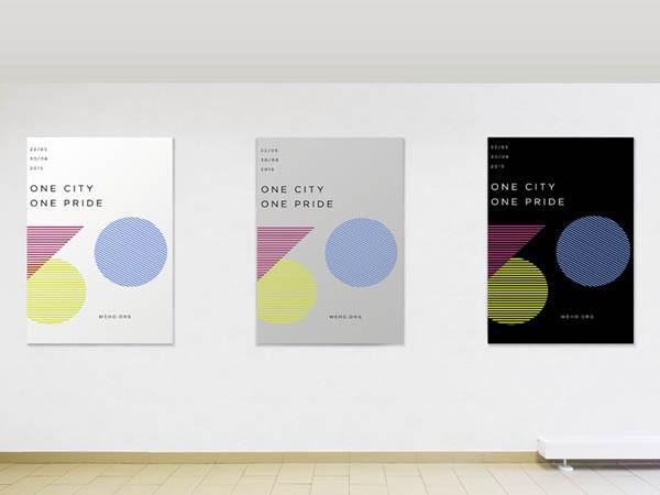 40个运用几何图形元素的创意海报设计(2)