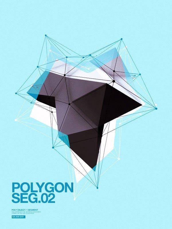40个运用几何图形元素的创意海报设计(4)