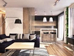 开放式空间布局的现代公寓设计