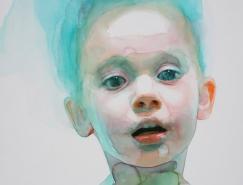 Ali Cavanaugh可爱的儿童水彩肖像画