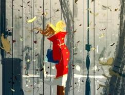 Pascal Campion温馨幸福的插画作
