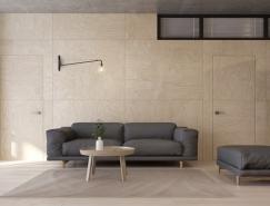 俄罗斯95平米极简风格公寓设计