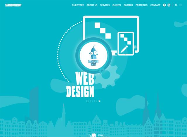 50个漂亮的单页面网站设计