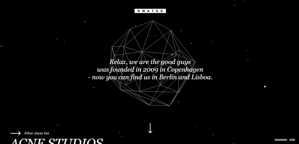 25个黑色网站设计欣赏