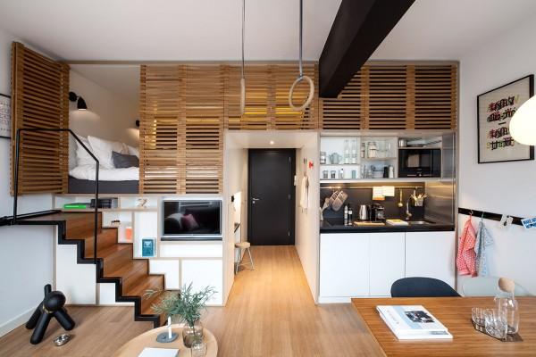 4個閣樓床小戶型公寓設計