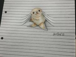 Iantha Naicker手繪作品:線條中的可愛小動物