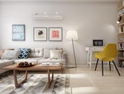 北欧简约风60平米小公寓设计