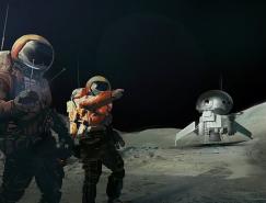 太空中的宇航员插画欣赏