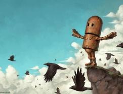 Matt Dixon可爱机器人插画