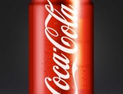 PS绘制逼真的可口可乐易拉罐