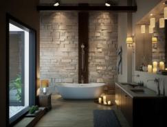 36个拥有豪华浴缸的卫浴空间设计