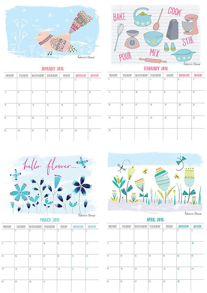 2014年月历壁纸下载_2016年国外创意日历和月历设计(4) - 设计之家