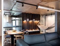 基辅酷酷的工业风格公寓装修设计