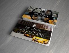 15款国外出租车司机名片设计