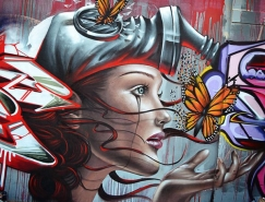 Destroy街头艺术作品