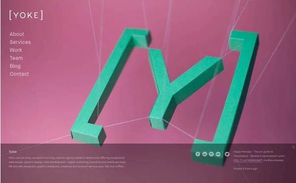 20个全屏背景图片网页设计