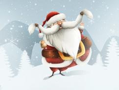 圣诞老人动态插画设计