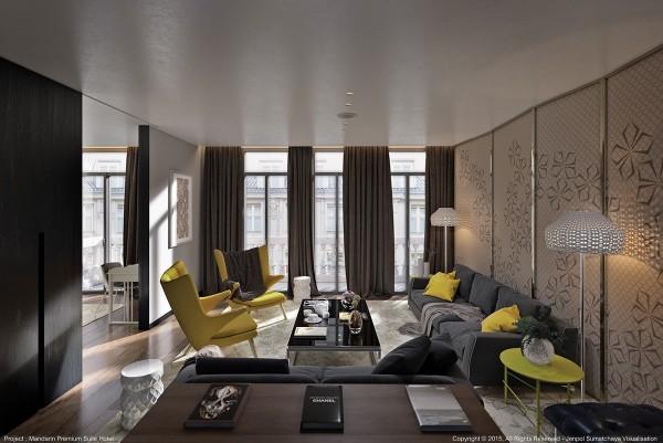 家居设计中黄色点缀的案例欣赏