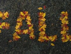 Photoshop制作有趣的秋季树叶字