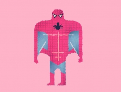 Alberto Cerriteno搞怪风格超级英雄插画欣赏