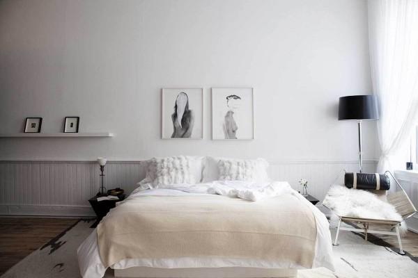 北欧简约风格卧室设计欣赏