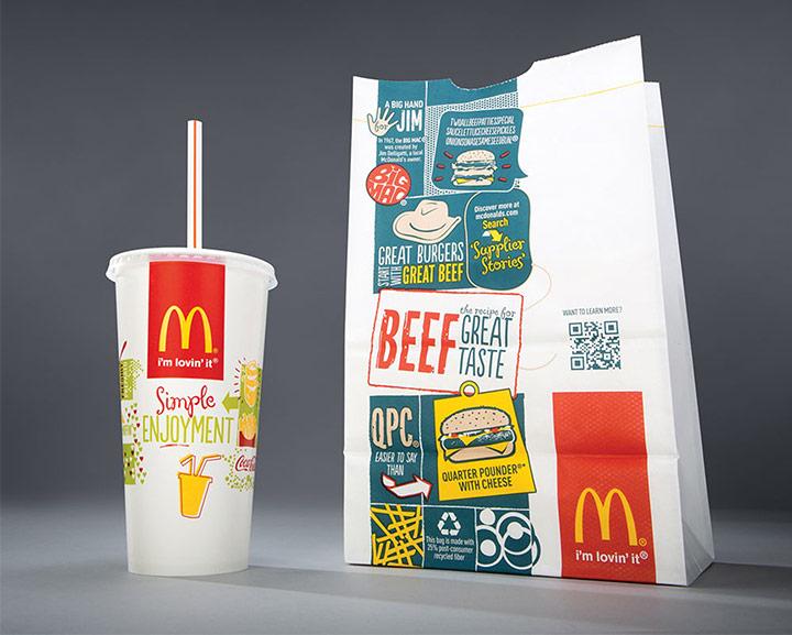 麥當勞換了新包裝 希望人們走在街上拿著它覺得時尚