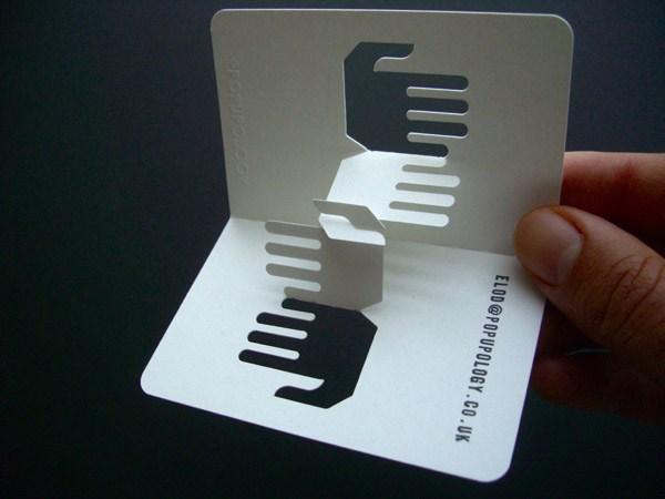 40个漂亮的折叠名片设计(2)