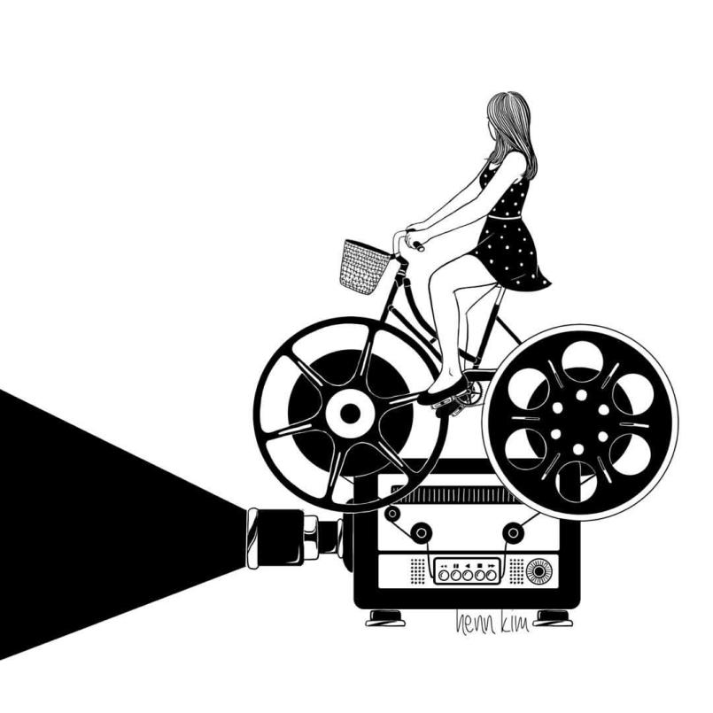 henn kim创意黑白插画作品