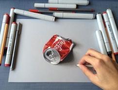 Sushant S Rane超逼真的3D鉛筆畫欣賞