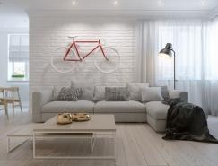 4个北欧简约风格公寓装修设计