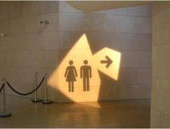 國外衛生間創意標識設計