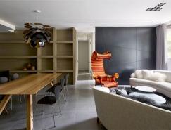 大氣時尚的黑色係公寓設計