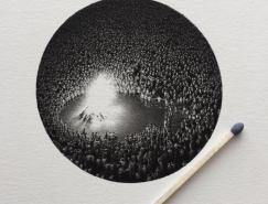 Mateo Pizarro微型黑白插畫設計