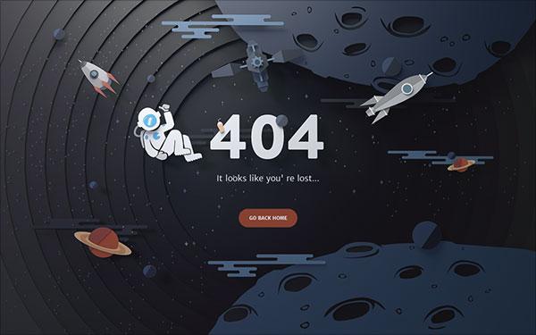 50个创意404错误页面设计