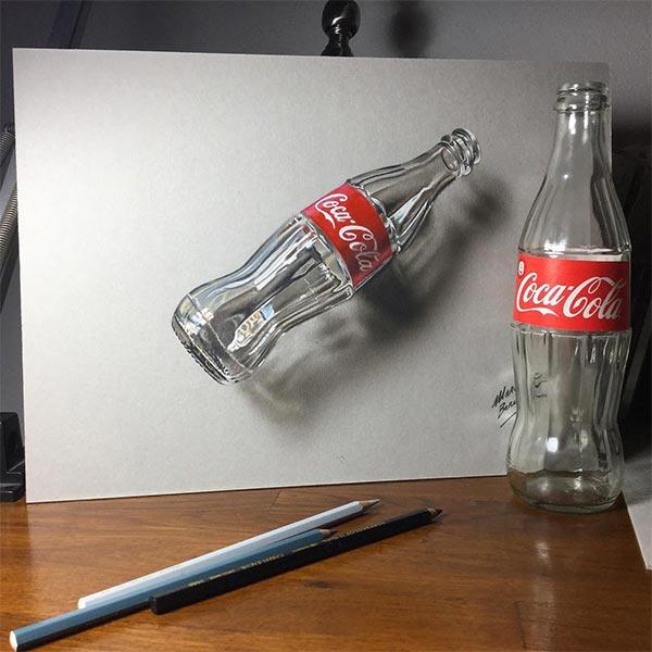 barenghi超逼真的3d彩色铅笔绘画作品