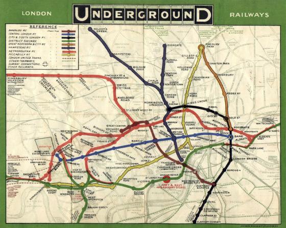 Harry Beck 伦敦地铁图背后的天才设计师