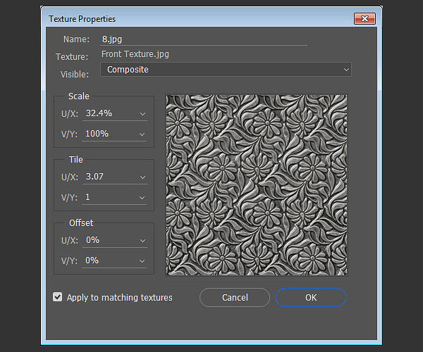 利用3d工具制作细腻的浮雕花纹立体字(2)
