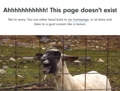 40个创意有趣的404页面设计