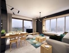开放式空间的现代简约公寓设计