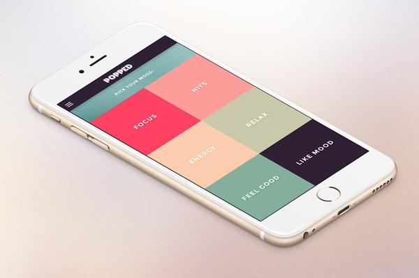 50個極簡風格手機app界面ui設計