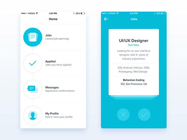 50個極簡風格手機app界面ui設計(2)