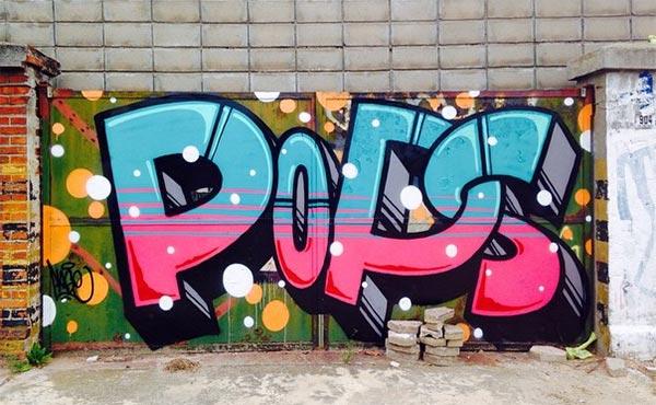 3d字体效果的创意街头涂鸦艺术