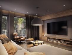 大气优雅的现代家居装修设计