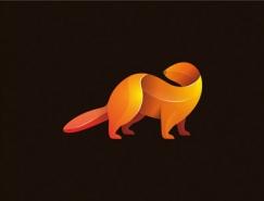 30款重疊漸變效果動物logo設計